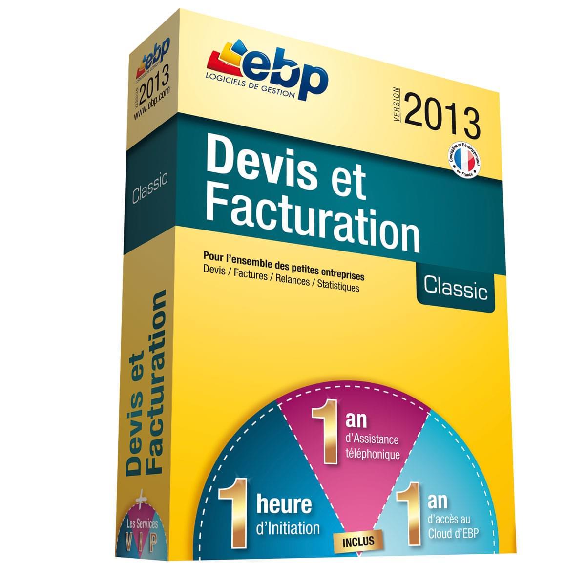 EBP Devis et Facturation Classic 2013 + Services VIP (1008J051FAA) - Achat / Vente Logiciel Application sur Cybertek.fr - 0