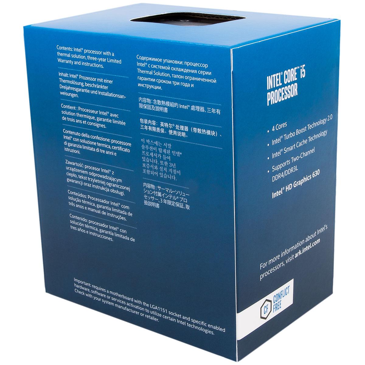 Intel Core i5 7500 - 3.4GHz - Processeur Intel - Cybertek.fr - 2