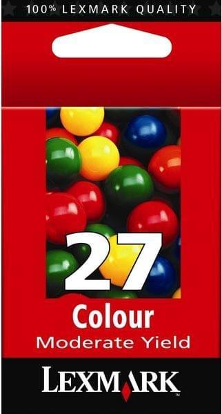 Cartouche n°27 couleur (C,M,J) - 10NX227E pour imprimante Jet d'encre Lexmark - 0