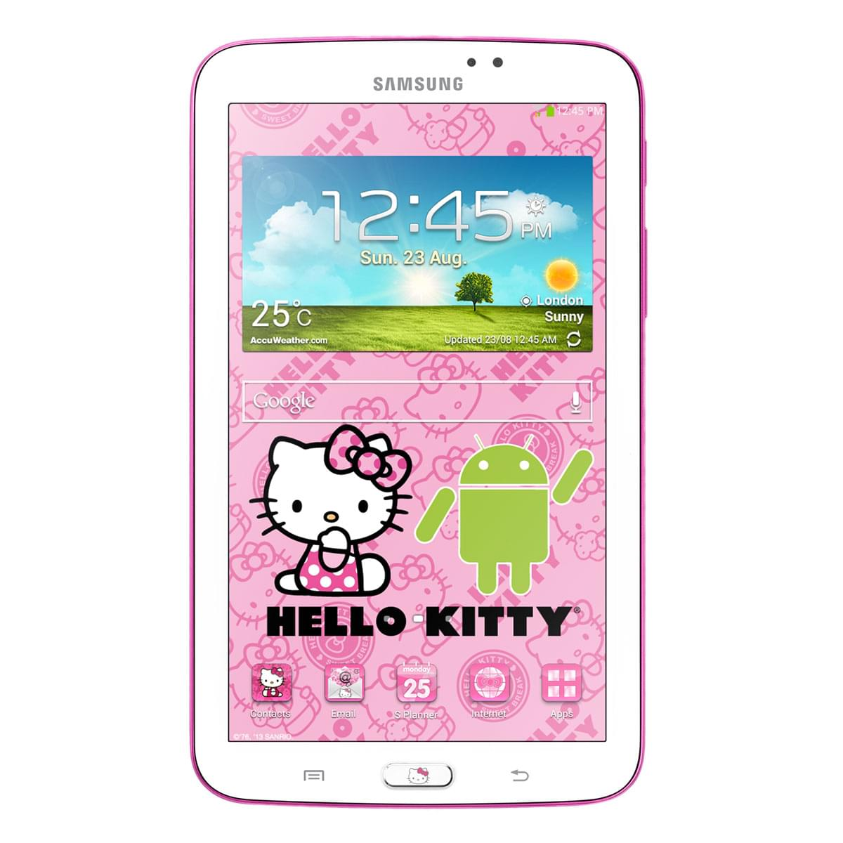 "Samsung Galaxy Tab 3 7"" Hello Kitty T2100ZWZ - Tablette tactile - 0"