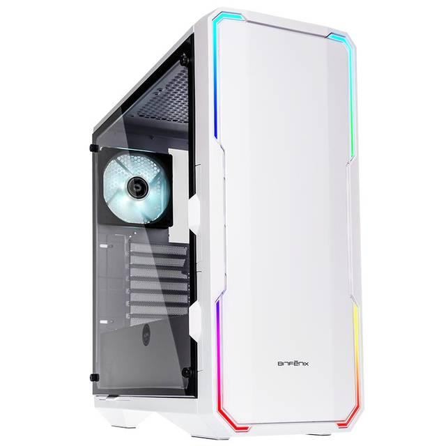 BitFenix GT/sans alim./E-ATX/RGB Blanc - Boîtier PC BitFenix - 0