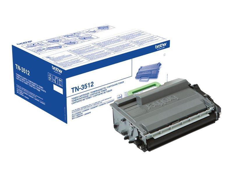 Toner Noir très haut rendement 12K pages - TN3512 pour imprimante  Brother - 0