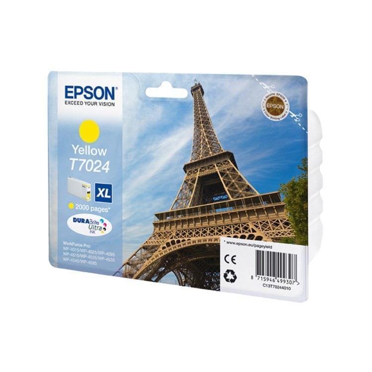 Epson Cartouche d'encre Jaune XL T7024 (C13T70244010) - Achat / Vente Consommable Imprimante sur Cybertek.fr - 0