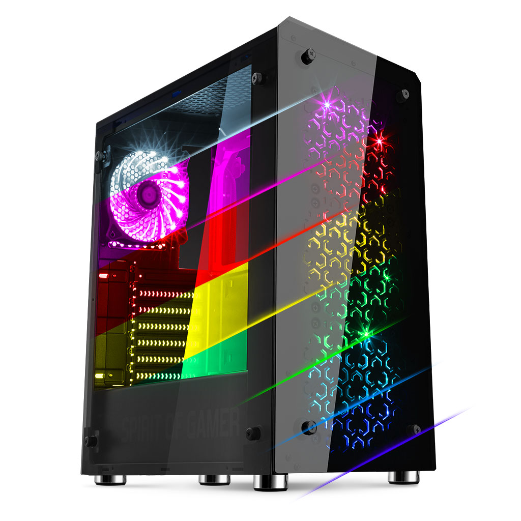Spirit Of Gamer ROGUE IV RGB Noir - Boîtier PC Spirit Of Gamer - 0