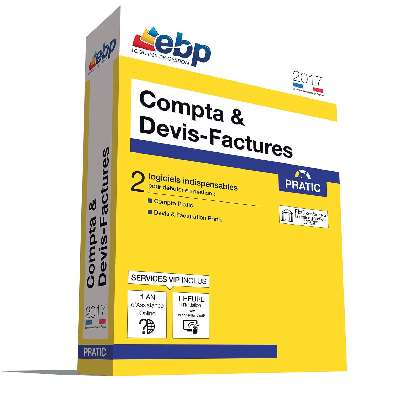 EBP Compta & Devis-Factures Pratic 2017 + VIP (1108E091FAA) - Achat / Vente Logiciel Application sur Cybertek.fr - 0