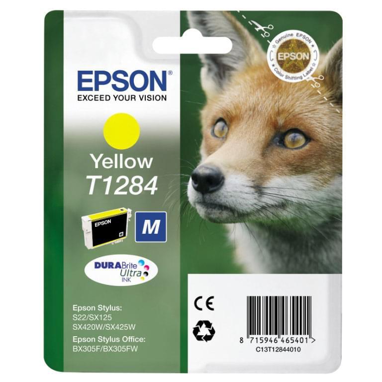 Cartouche T1284 Jaune pour imprimante Jet d'encre Epson - 0
