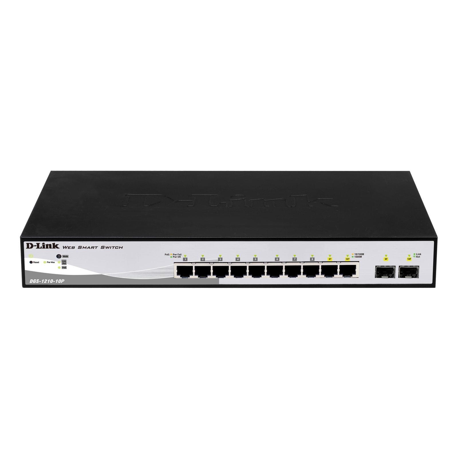 Switch D-Link 10 ports 10/100/1000 dont 2 Combo SFP-DGS-1210-10P - 0