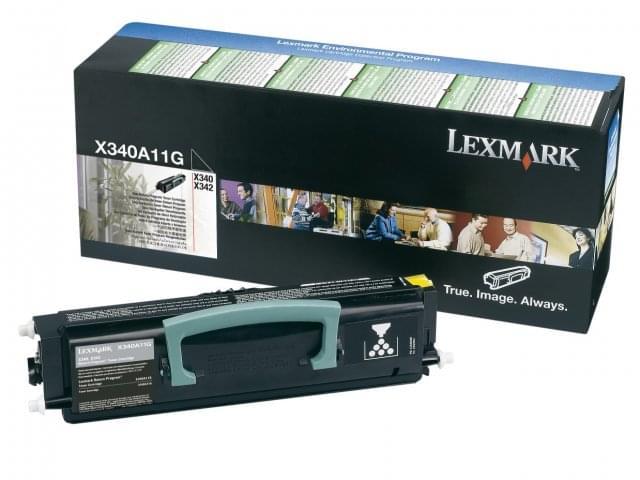 Toner Noir LRP 2500p - X340A11G pour imprimante Laser Lexmark - 0