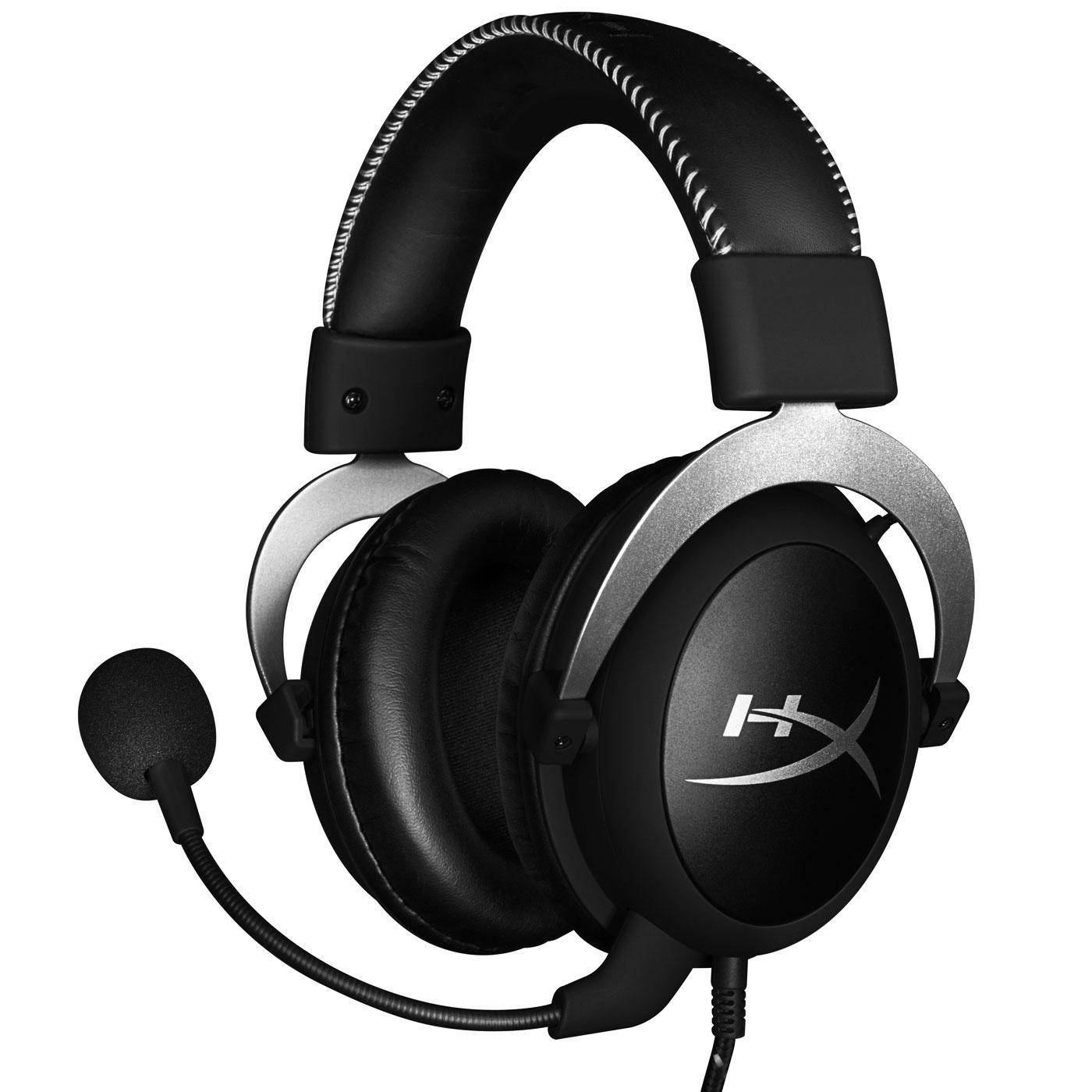 HyperX CloudX Gaming Headset (Silver) (HX-HSCX-SR/EM) - Achat / Vente Micro-casque sur Cybertek.fr - 0