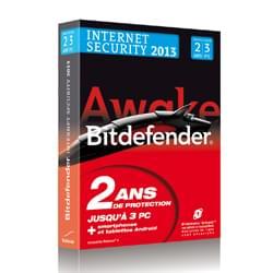 Cybertek Logiciel sécurité Bitdefender Internet Security 2013 - 2 ans - 3 postes