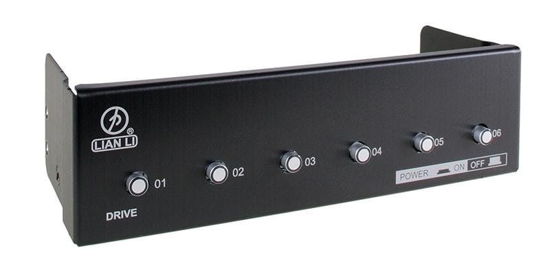 """Lian-Li Commutateur HDD baie 5.25"""" BZ-H06B (soldé) - Achat / Vente Accessoire boîtier sur Cybertek.fr - 0"""
