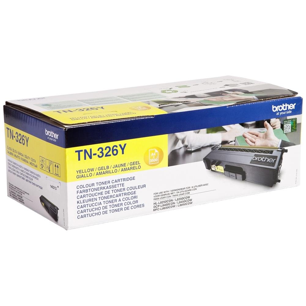 Toner Jaune 3500p - TN-326Y pour imprimante Laser Brother - 0