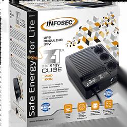 image produit Infosec Z1 - Zenergy Cube EX 400VA Haute Frequence SCHUKO Cybertek