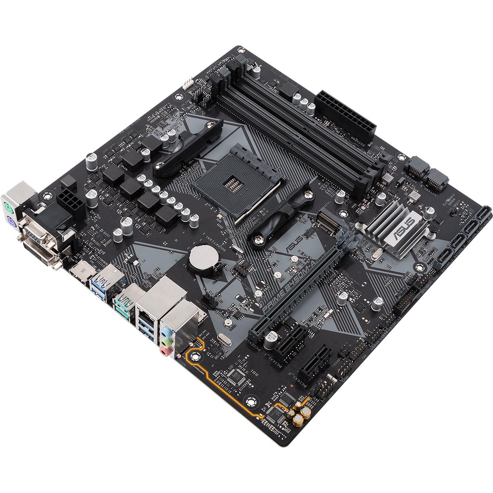 Asus PRIME B450M-A Micro-ATX DDR4 - Carte mère Asus - Cybertek.fr - 2
