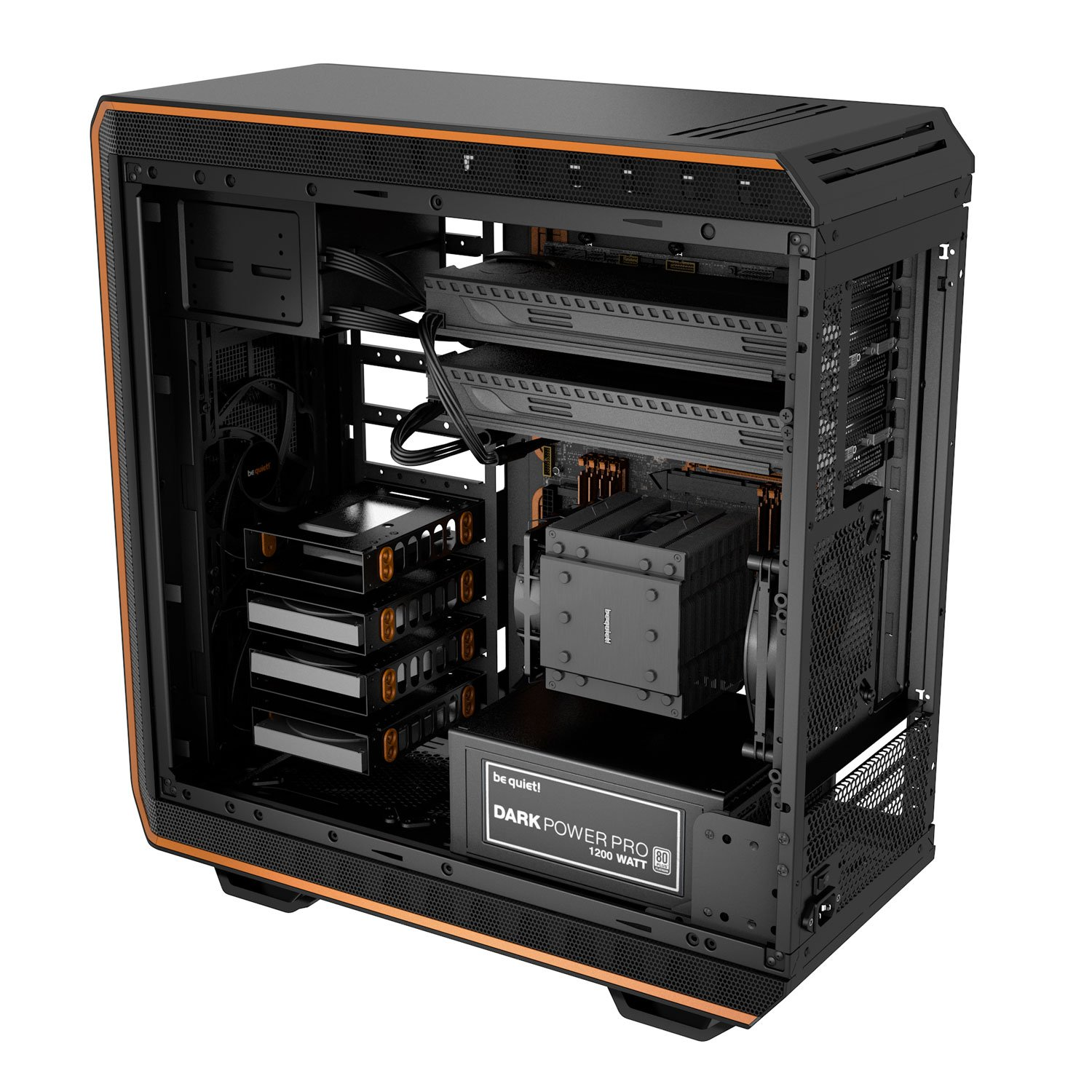 Be Quiet! Dark Base 900 Orange Orange - Boîtier PC Be Quiet! - 1