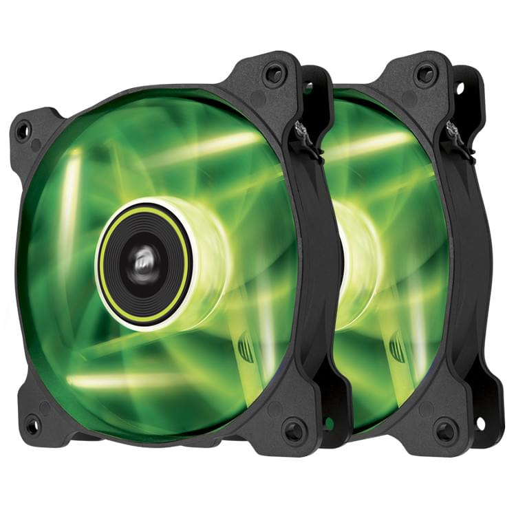 Ventirad Corsair SP120 120mm LED VERT Dual Pack - CO-9050032-WW - 0