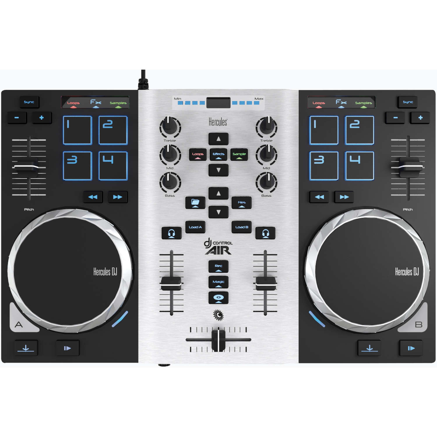 Hercules DJControl Air S Series Party Pack - Table de mixage - 2