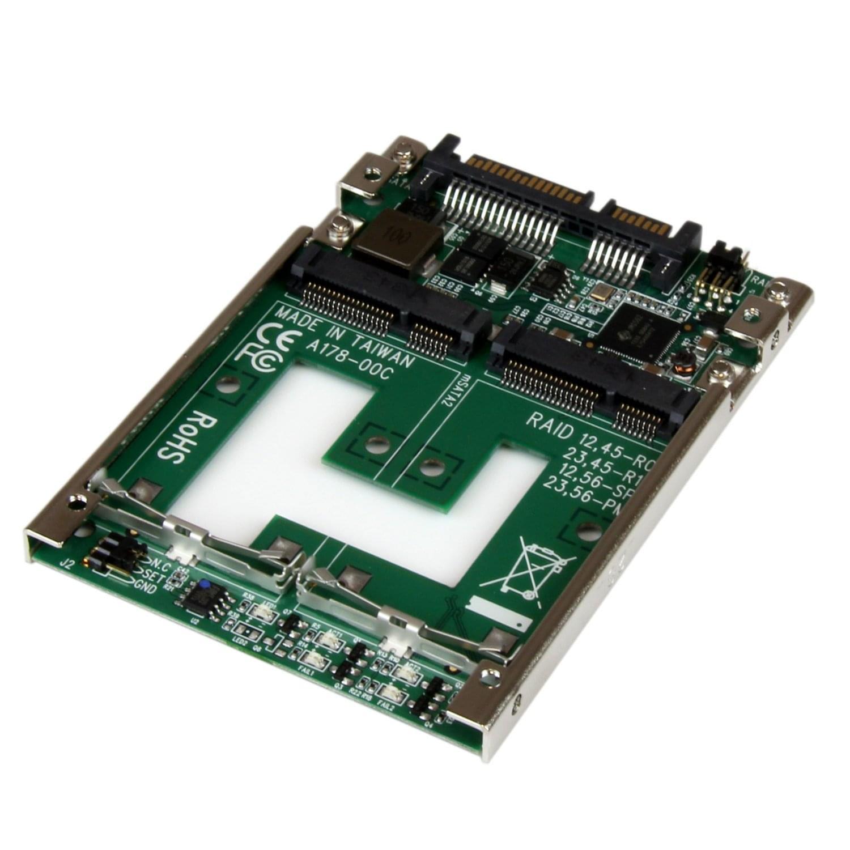 """StarTech Adapt. Dual mSATA RAID sur 2.5"""" SATA 25SAT22MSAT (25SAT22MSAT) - Achat / Vente Connectique PC sur Cybertek.fr - 0"""