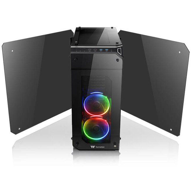 Thermaltake View 71 Tempered Glass RGB Noir - Boîtier PC - 3
