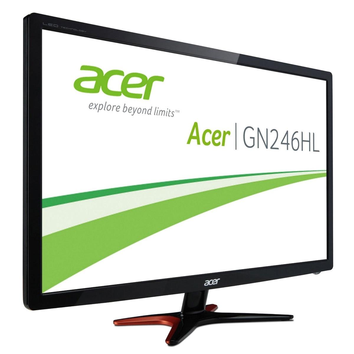 "Acer Predator GN246HLB - 24"" LED/FHD 3D/1ms/Black (UM.FG6EE.B06) - Achat / Vente Ecran PC sur Cybertek.fr - 1"