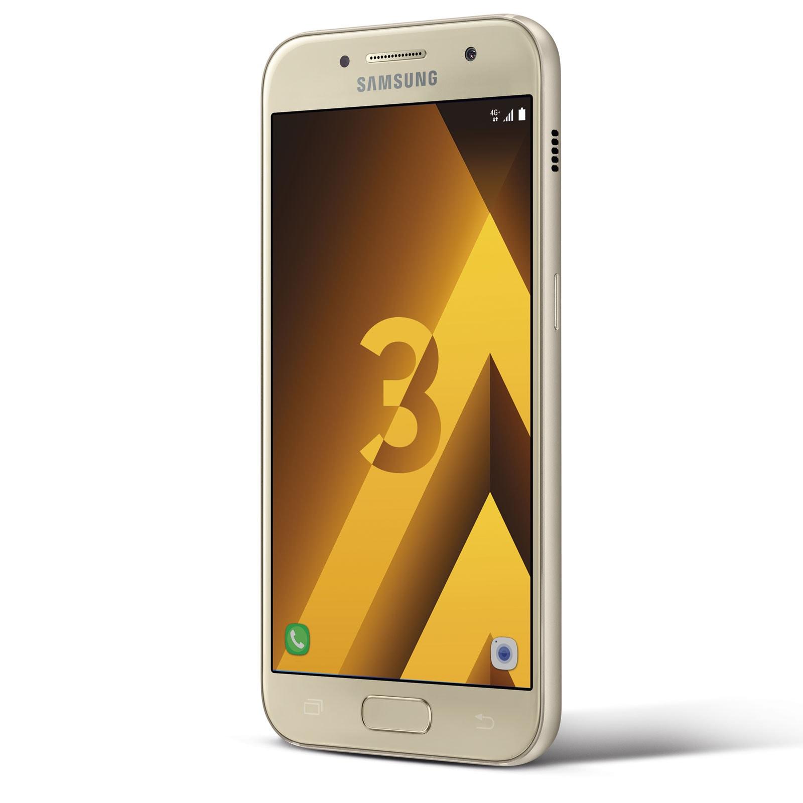 Samsung Galaxy A3 (2017) Or - Téléphonie Samsung - Cybertek.fr - 3
