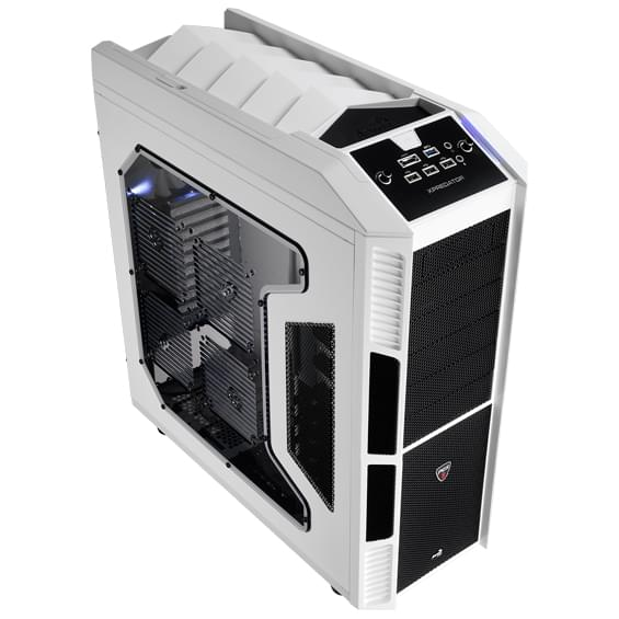 Aerocool GT/Sans Alim/ATX Blanc - Boîtier PC Aerocool - 0
