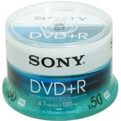 Sony Consommable Stockage DVD+R Vierge 4.7Go (pack de 50) Cybertek