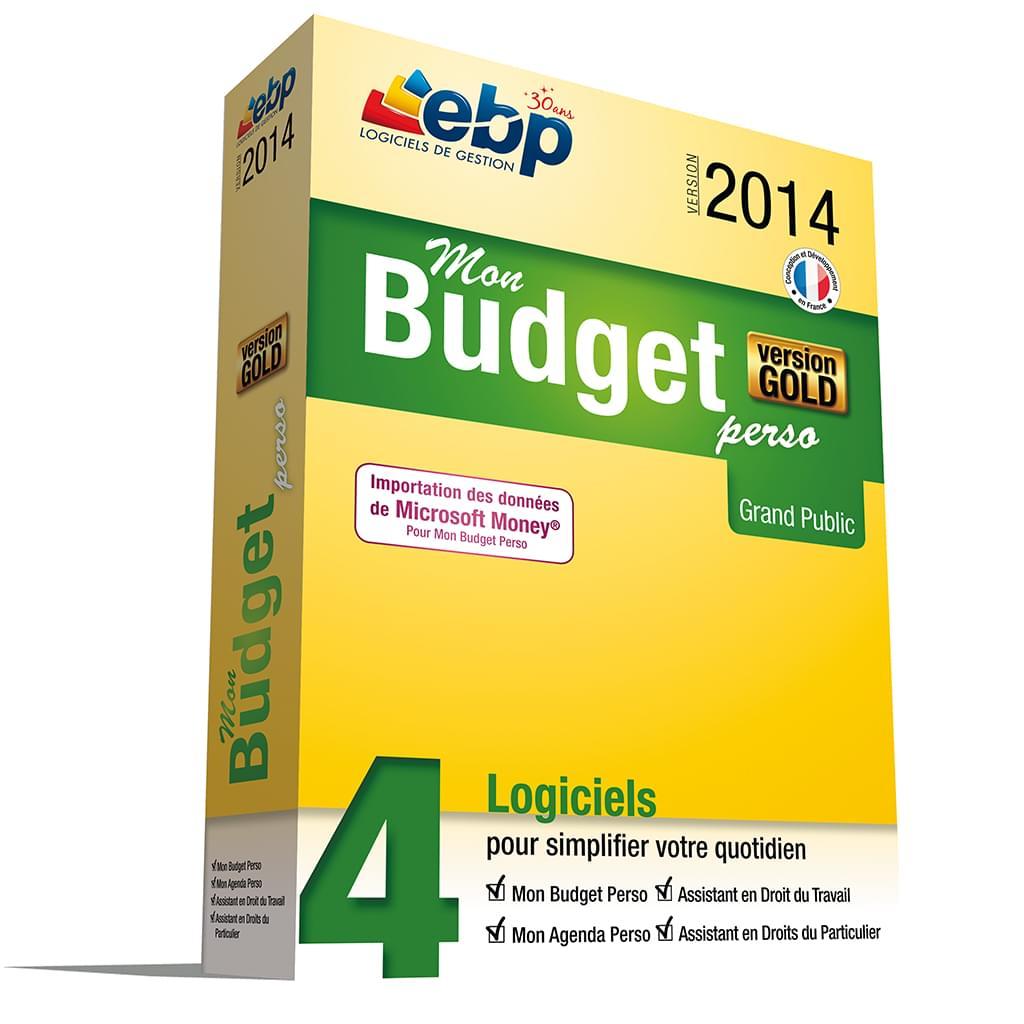 EBP Mon budget Perso GOLD 2014 (1181E140FAA) - Achat / Vente Logiciel Application sur Cybertek.fr - 0
