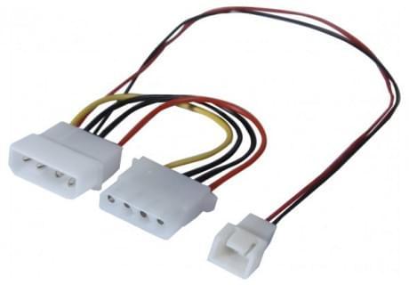 Adaptateur d'alim Molex pour ventilateur 3 broches - Connectique PC - 0