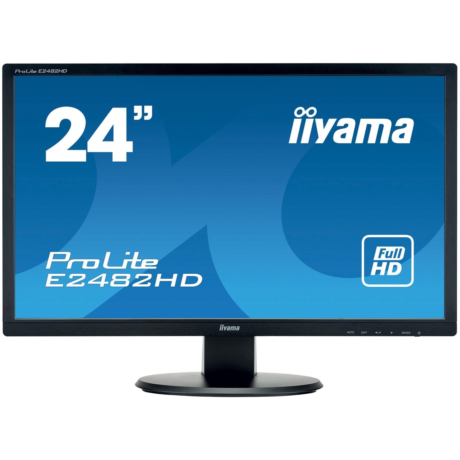 Iiyama E2482HD-B1 (E2482HD-B1) - Achat / Vente Ecran PC sur Cybertek.fr - 0