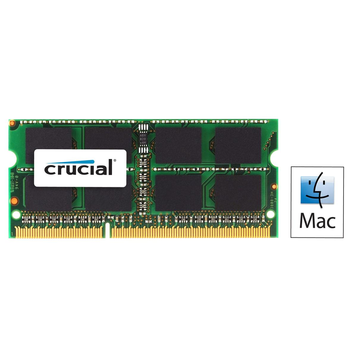 Crucial SO-DIMM 8Go DDR3 1333 for MAC CT8G3S1339MCEU (CT8G3S1339MCEU) - Achat / Vente Mémoire PC portable sur Cybertek.fr - 0