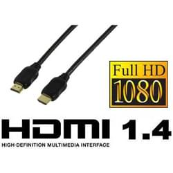 Câble HDMI 1.4 mâle/mâle 5m - Connectique TV/Hifi/Video - 0