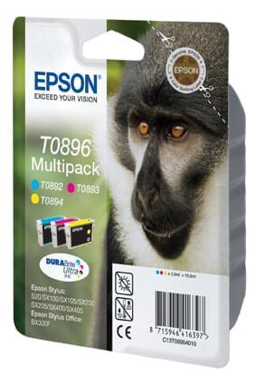 Multipack 3 couleurs T0896 pour imprimante Jet d'encre Epson - 0