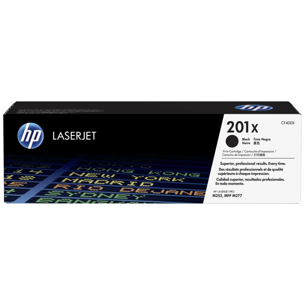 Toner 201X Noir 2800p - CF400X pour imprimante  HP - 0