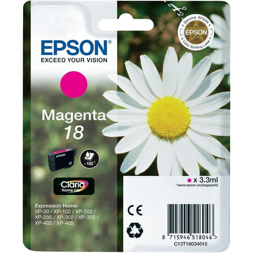 Epson Cartouche T1803 Magenta (C13T18034010) - Achat / Vente Consommable Imprimante sur Cybertek.fr - 0