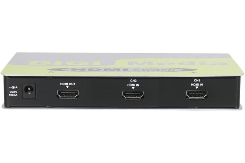 Commutateur HDMI - 2 Entrées/1 Sortie/Télécommande - 0