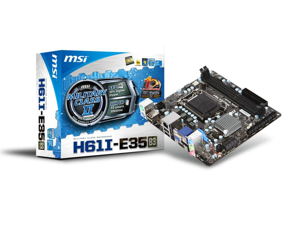 MSI H61I-E35 (B3) Mini-ITX DDR3 - Carte mère MSI - Cybertek.fr - 0