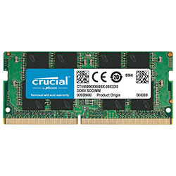 image produit Crucial SO-DIMM 8Go DDR4 2666 CT8G4SFRA266 Cybertek