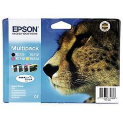 Epson Cartouche Multipack T0715 Noir/C/J/M (C13T07154010) - Achat / Vente Consommable imprimante sur Cybertek.fr - 0