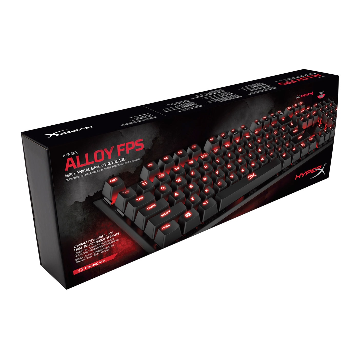 HyperX ALLOY FPS Cherry MX Brown - Clavier PC HyperX - Cybertek.fr - 1