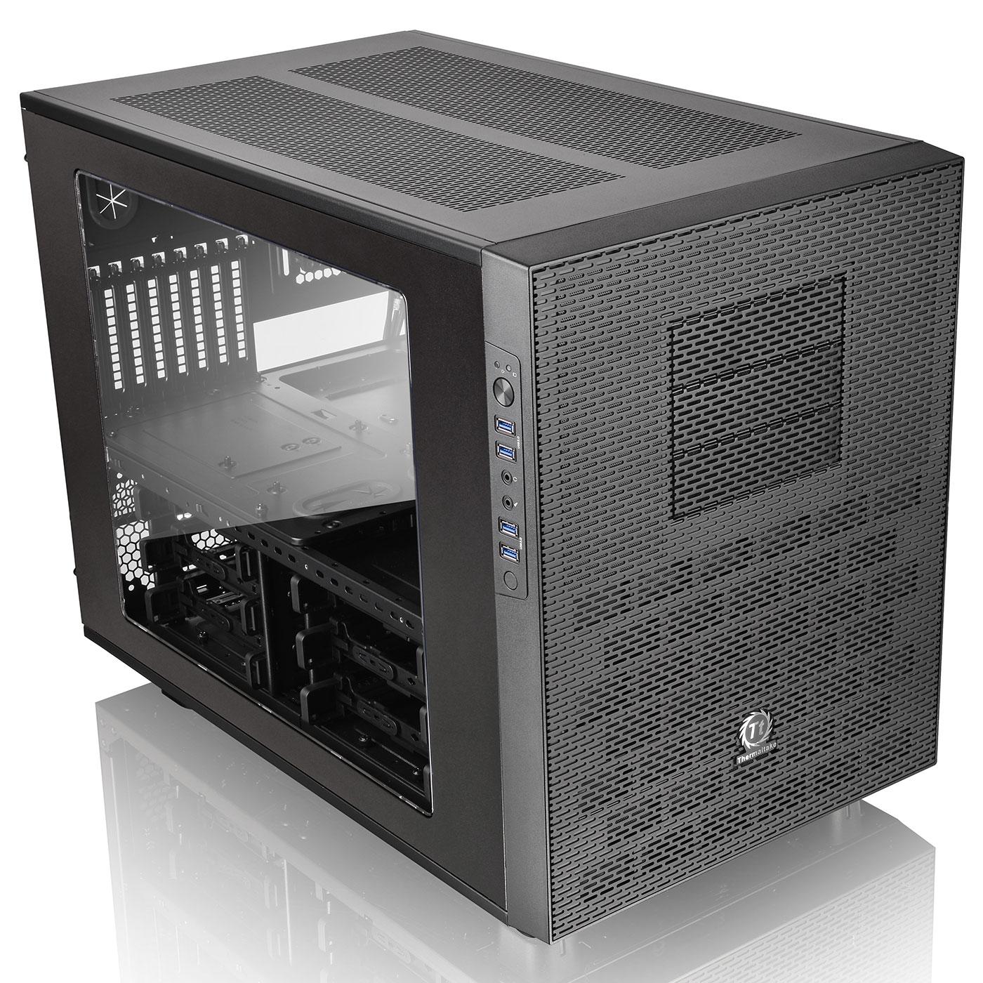 Thermaltake Cube/ss alim/E-ATX Noir - Boîtier PC Thermaltake - 0