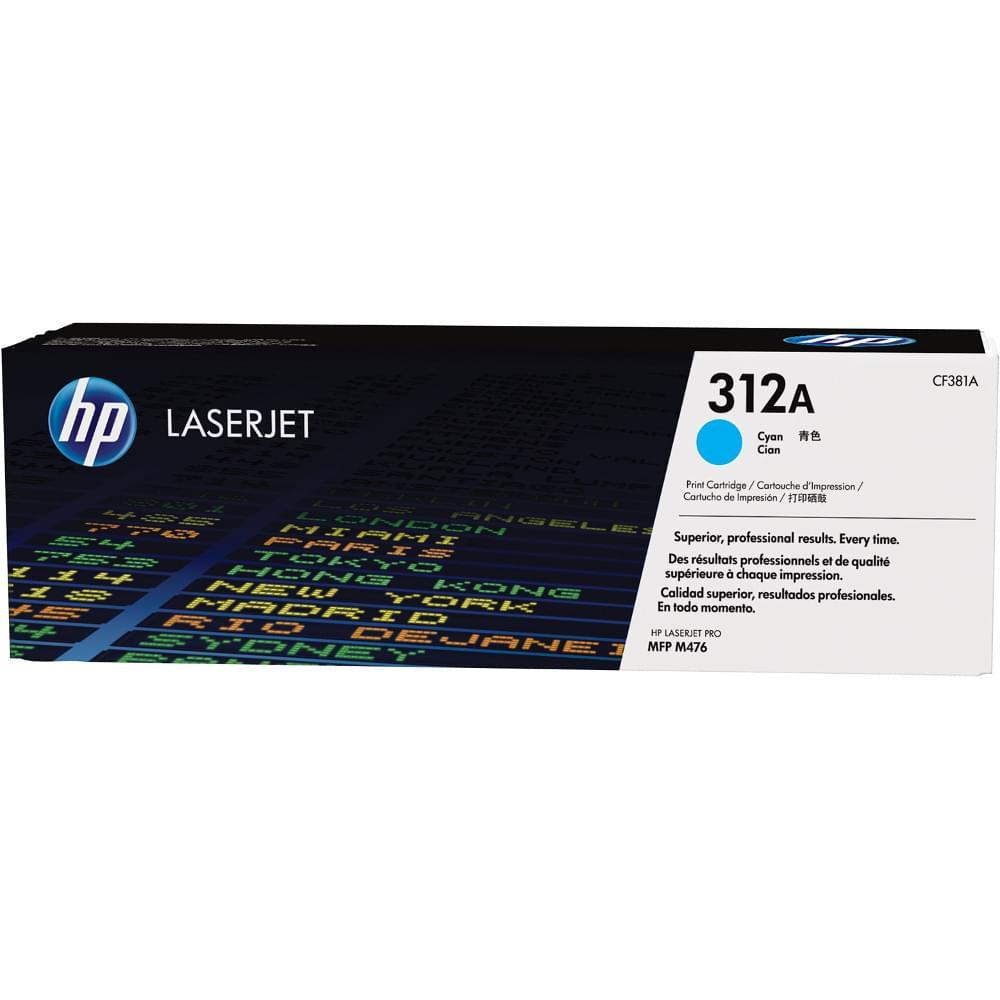 Toner Cyan HP 312A - CF381A pour imprimante Laser HP - 0