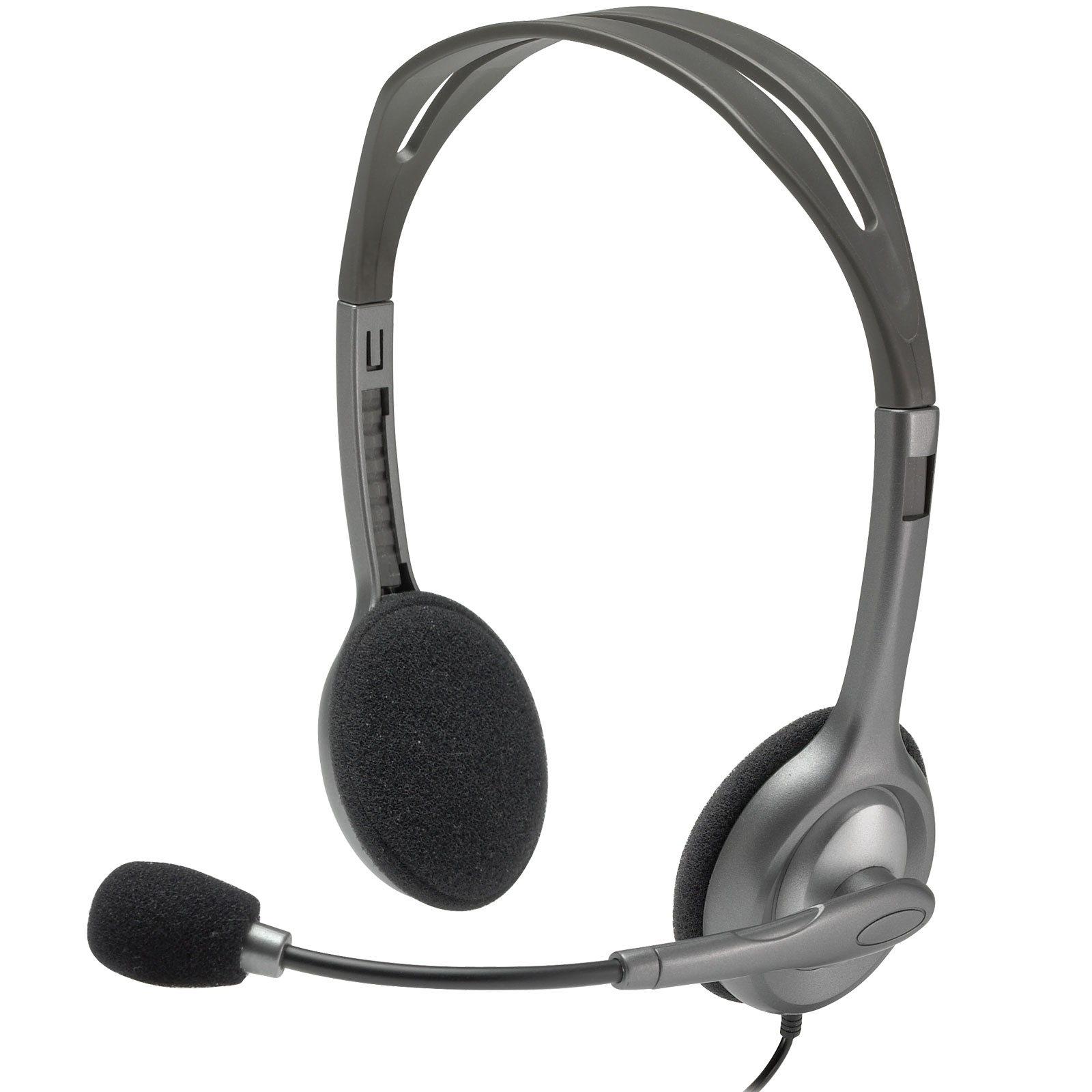 Logitech Stereo Headset H111 Mono Gris - Micro-casque - 0