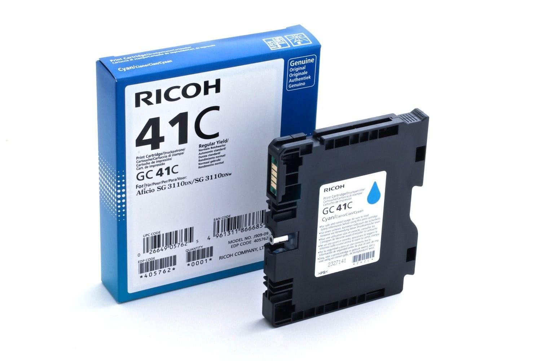GC-41C Cyan 2200p pour imprimante Jet d'encre Ricoh - 0