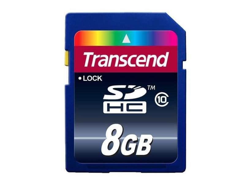 Transcend SDHC 8Go TS8GSDHC10 class 10 (TS8GSDHC10) - Achat / Vente Carte mémoire sur Cybertek.fr - 0
