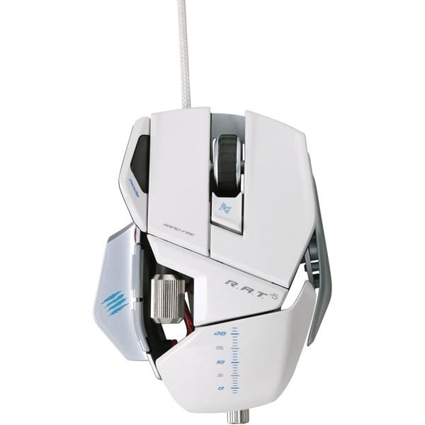 Souris PC Gamer MAD CATZ R.A.T 5 Gloss Blanc - 5600 DPI - 0