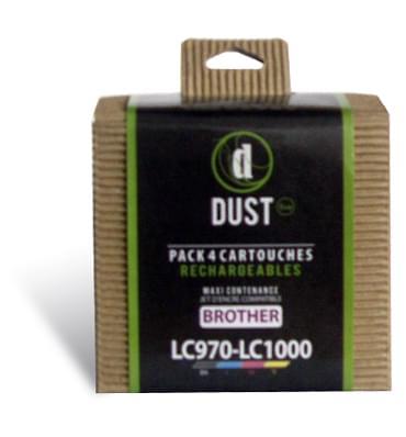 DUST Eco Pack 4 cart. rechargeables LC970-LC1000 (LC970-LC1000) - Achat / Vente Cartouche rechargeable sur Cybertek.fr - 0