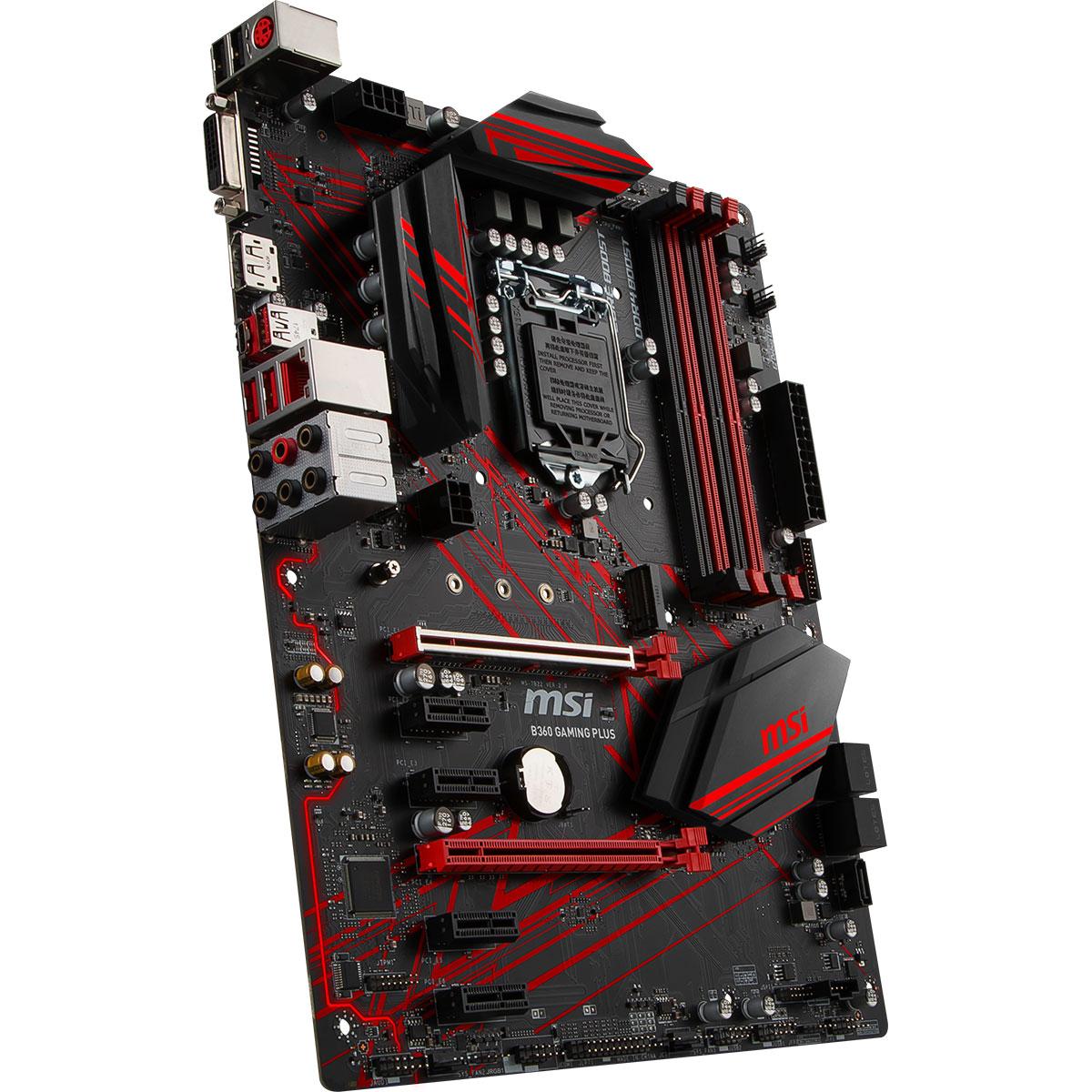 MSI B360 GAMING PLUS ATX DDR4 - Carte mère MSI - Cybertek.fr - 3