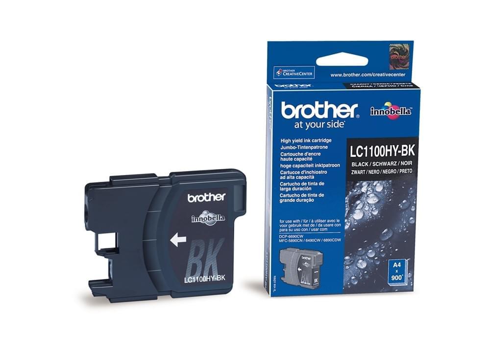 Brother Cartouche haute capacité Noir 900p (LC1100HYBK) - Achat / Vente Consommable Imprimante sur Cybertek.fr - 0
