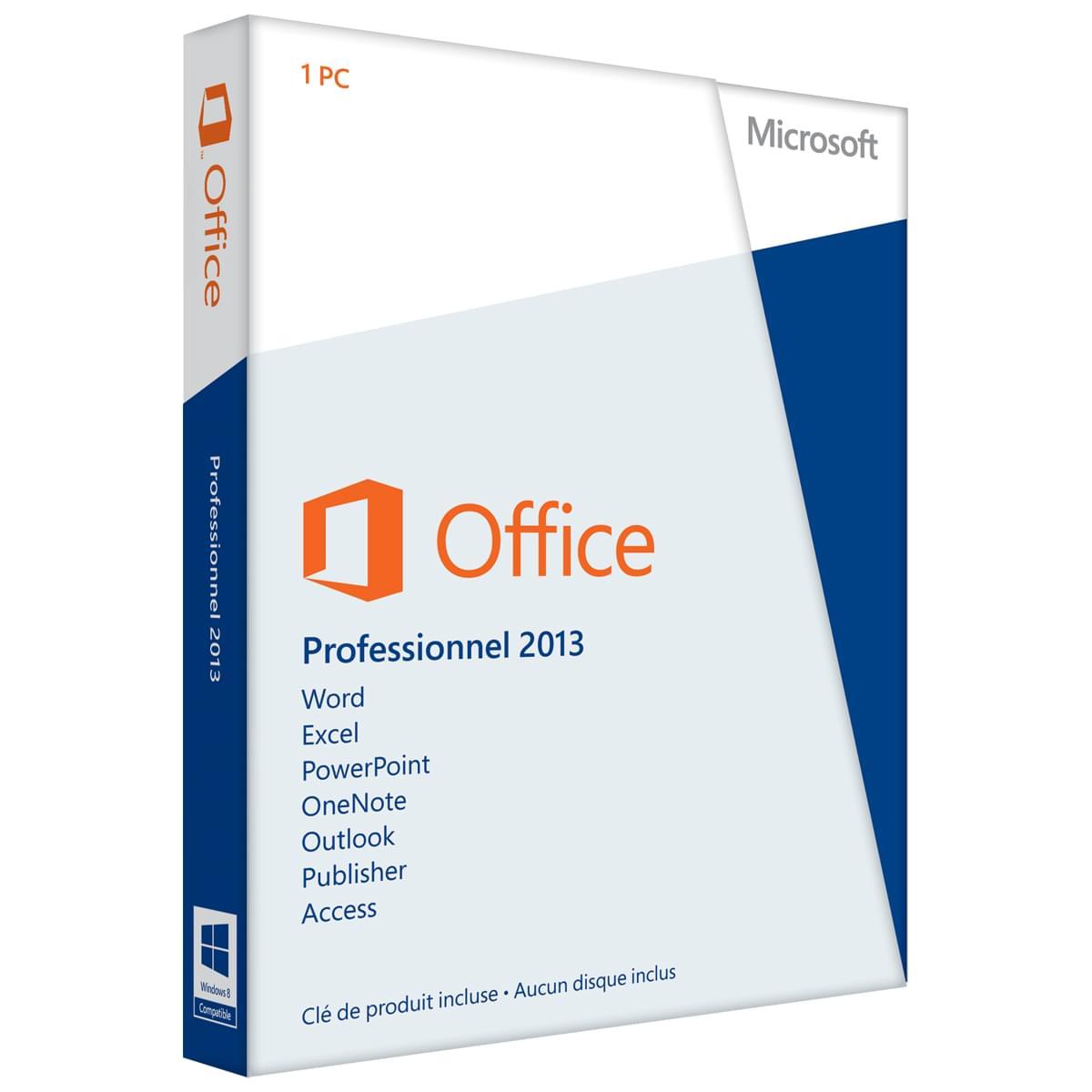 Microsoft Office PRO 2013 COEM (269-16148) - Achat / Vente Logiciel Suite bureautique sur Cybertek.fr - 0